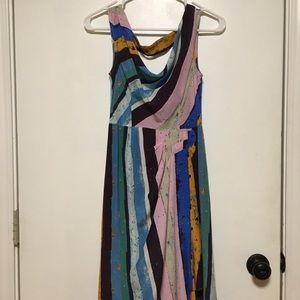 Anthro- Multicolor brushstroke dress